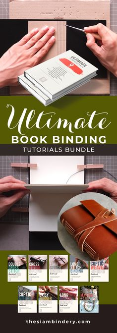 The Ultimate Tutorials Pack includes 8 bookbinding and 1 papermaking tutorials. Learn Long Stitch, Cross Stitch and Coptic Binding. Diy Gifts To Sell, Sell Diy, Crafts To Sell, Diy Toolkit, Bookbinding Tutorial, Gifts For Photographers, Book Projects, Handmade Books, Craft Business