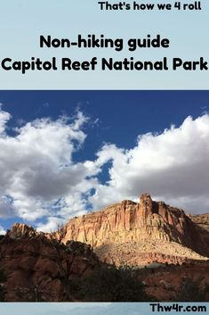 Capitol Reef National Park is a great place to hike but if that's not your thing there are miles and miles of dirt roads you can explore Family Travel, Rv Travel, Travel Tips, Utah Vacation, Best Campgrounds, Capitol Reef National Park, Hiking Guide, Swimming Holes, Rv Parks