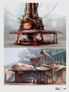 The Art of Fallout 4 Fallout 4 Weapons, Fallout Art, Fallout Meme, Fallout Cosplay, Fallout 4 Concept Art, Game Concept Art, Fallout 4 Settlement Ideas, Cyberpunk, Vault Tec
