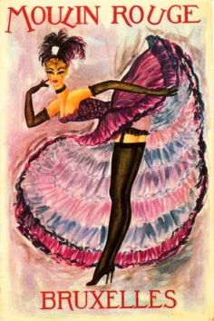 Vintage Moulin Rouge illustration