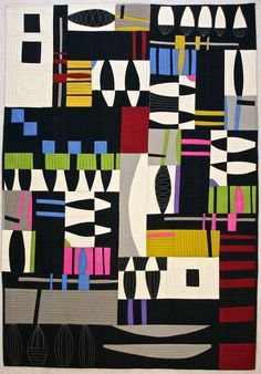 Jitterbug by Karen Farmer Displayed at The Bailey Gallery at York Quilt Museum…