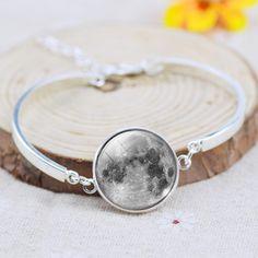 Galaxy Moon Star Glass Cabochon Charm Bracelet - Save 37%!