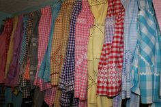 Reminisce...: vintage gingham aprons