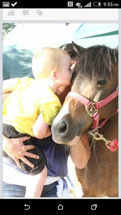 Givin' smooches! Submitted by Kim White. #firstlove #horseylove #horses #horsecrazy #horseback #horseriding