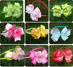 Baby hair bows Butterfly Flowers