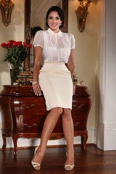 Sheer Blouses - Silk Blouses, Satin Blouses - Danielle Sheer Blouse