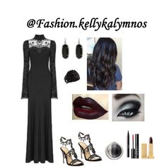 A fashion look created by kellykalymnos featuring Audacious Mascara - Colour Black Moon, Cosmetic Baked Eyeshadow Trio, Grace Jeweled High Dressy Sandal, Elle Earring Earring. Browse and shop related looks. Alternative Outfits, Gothic Fashion, Image, Design, Style, Swag, Stylus, Design Comics, Outfits