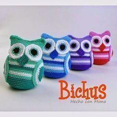 Bichus Amigurumis: PATRON GRATIS : Abril - BUHOS Crochet Toys Patterns, Crochet Patterns For Beginners, Stuffed Toys Patterns, Crochet Stitches, Knit Crochet, Crochet For Kids, Friendship Bracelets, Free Pattern, Baby Shoes