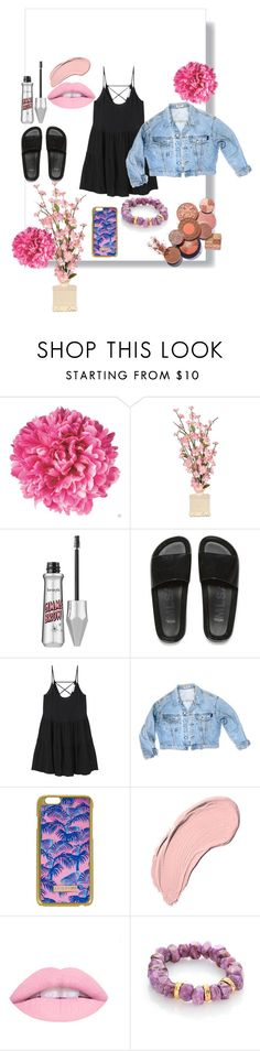 """""""suable"""" by delenavevo ❤ liked on Polyvore featuring Benefit, Melissa, MANGO, GUESS, Skinnydip, NYX and Nest"""