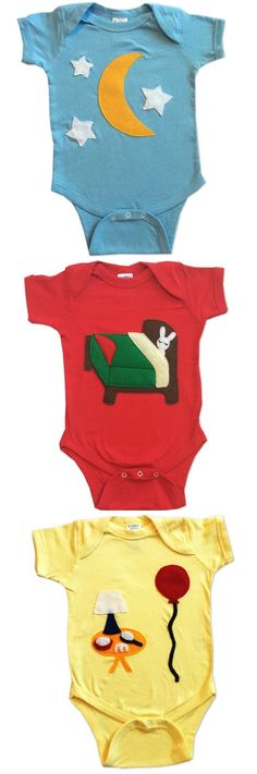 Good Night Moon Baby Gifts: Goodnight Moon Baby onesies, perfect for Goodnight Moon Baby Showers!