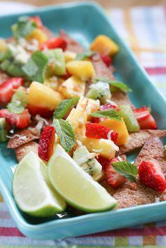 Tropical Fruit Nachos | foodnfocus.com