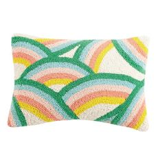 Dancing Rainbows Hook Pillow by Oh Joy! Start building amazing sheds the easier way with a collection of shed plans! Colorful Cocktails, Rainbow Decorations, Rainbow Aesthetic, Paint Stripes, Rainbow Print, Cotton Velvet, Punch Needle, Pottery Barn Kids, Pillow Inserts