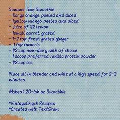 From the blog, great summer smoothie! vintagechyck.wordpress.com
