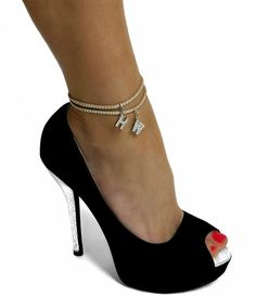Hotwife Studded Suede Anklet - MFM, Threesome, Vixen, Swinger, Hot Wife, QOS, Queen of Spades, BBC, Black Heel Boots, Heeled Boots, Stiletto Heels, High Heels, Shoes Heels, White Block Heels, Ankle Chain, Chunky Boots, Gorgeous Feet