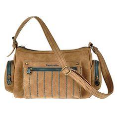 Bolso crossbody de pu de cierre de cremallera, 3 bolsillos exteriores, trasero e interior.  Medidas: 28x18x10
