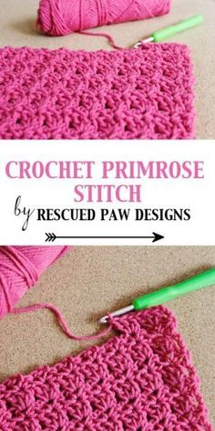 Crochet Primrose Stitch Tutorial Pattern by Rescued Paw Designs