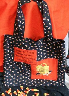 Trick or Treat Smell My Feet Cloth Goodie Bag by AuldNouveau, $12.99