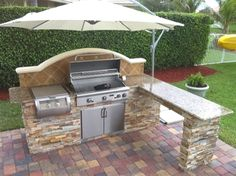 Grill Station design ideas for your backyard. #grilldesign #grillstations - 18 Outdoor Kitchen Ideas For Backyards - MeCraftsman http://mecraftsman.com/18-outdoor-kitchen-ideas-backyards/back-camera/