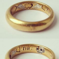 "Pictogram inscription: ""Two hands, one heart,  till death us part"" Made in England, 17th century"