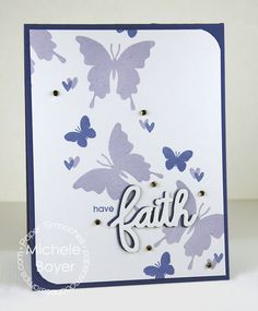 Card by PS DT Michele Boyer using PS Religious Words dies, Graceful Beauties
