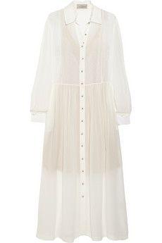 Preen by Thornton Bregazzi Barton silk-georgette midi dress | NET-A-PORTER
