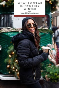 nyc winter outfits What to Wear in NYC this Winter - winteroutfits Cold Weather Outfits For School, Winter Mode Outfits, Cold Weather Fashion, Casual Winter Outfits, Winter Fashion Outfits, Holiday Outfits, Summer Outfits, Nyc Winter, Winter Stil