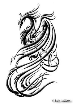 Love this phoenix image for the ankle...not sure I want this particular mythological symbol however...