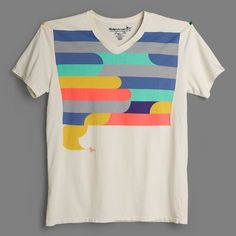 Multi-Stripe Vee - Awesome T-Shirts at Rumplo