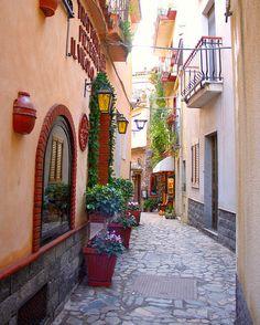 Side Street, Taormina, Sicily, Italy