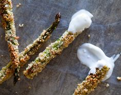 Healthy Asparagus Fries #Yum #Veggies #Recipes