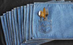 Weg mit den alten Jeans! - Dekoration aus Jeansstoffen ist der neue Trend