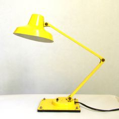 Yellow vintage Desk Lamp  Articulated by Mylittlethriftstore, $22.00