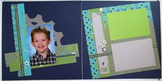 """Later Sk8R 2 page scrapbook layout. """"On with the show"""" sketch from the Magic How To Book. Close To My Heart. CTMH. School Photos. By: HeatherJaneDesign"""