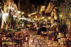 Athens At NIght - Plaka Hotel - Greece http://fireelf.com