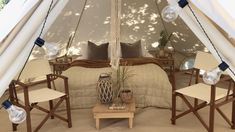 Sussex glamping in style with our spacious 5 metre bell tents for weddings, garden parties, weekend glamping in Sussex, Kent and Surrey. Glampsite available for booking at Chafford Park Estate - July onwards Bell Tent Glamping, Go Glamping, Birthday Sleepover Ideas, Tent Hire, Luxury Glamping, Bed Tent, Moroccan Interiors, Garden Parties, Luxury Rooms