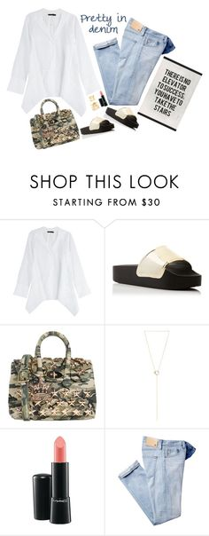 """""""...take the stairs"""" by musicfriend1 ❤ liked on Polyvore featuring Donna Karan, Jeffrey Campbell, Mia Bag, Maison Margiela, MAC Cosmetics, AG Adriano Goldschmied and Joomi Lim"""