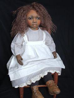 Rebecca Kerin Folk Art Dolls ~ Kiah