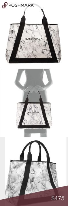 Balenciaga Marble Canvas Tote & Change Purse Like new.  Marble style with matching insert (change purse that could fit a long wallet).  In great condition.  Original tags included.  Canvas fabric, perfect for everyday/beach bag. Balenciaga Bags Totes