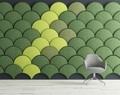 stone designs accentuates walls with ginkgo acoustic panels