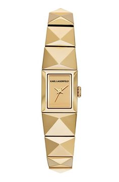 KARL LAGERFELD 'Mini Perspektive' Pyramid Bracelet Watch