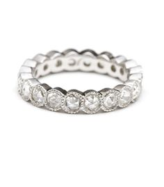 Rose Cut Diamond Eternity Band - PERFECT for a wedding band.