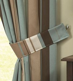 Beautiful Blue And Brown Curtains Curtain Blue