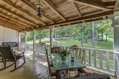 nice wooden ceiling on this porch