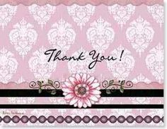 Barbara Ann Kenney licensed Thank you card with Leanin Tree