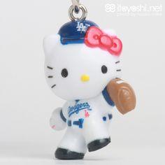 itoyoshi's Gotochi Kitty collection NO.1690 USA California MLB Los Angeles Dodgers Limited MLB Los Angeles Dodgers Hello Kitty