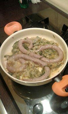 #Salsiccia di tacchino con scarola alla #napoletana  #Food #picoftheday #pinfood