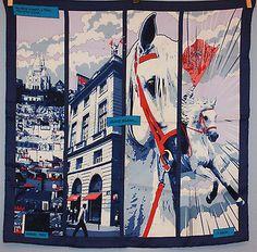 "Hermes 70  ""Quand soudain"" carre foulard shawl Tuch Seide silk soie Rybaltchenko"