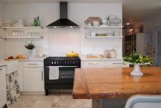 Black Stove - White Kitchen - Living With Kids: Rebecca Brown
