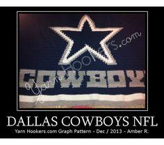 Dallas Cowboys NFL - Afghan Crochet Graph Pattern Chart