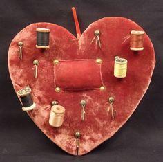 Heart shaped Thread Holder and Pincushion